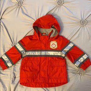 Like new Carter's fire fighter rain jacket